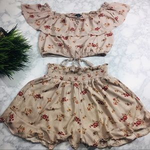 American Eagle Outfitters Floral Set